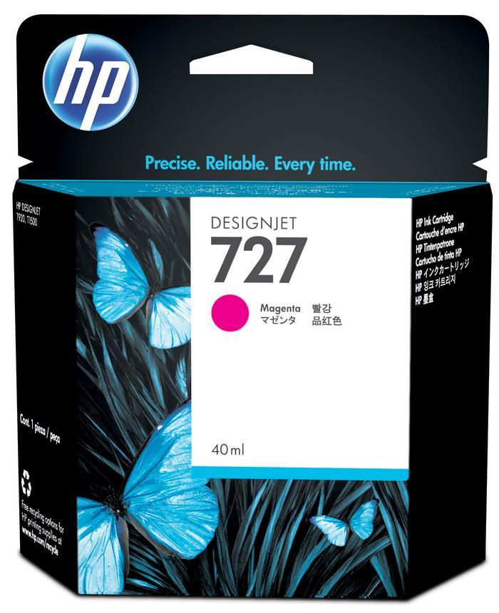 HP 727 40-Ml Magenta Ink Cart B3P14A