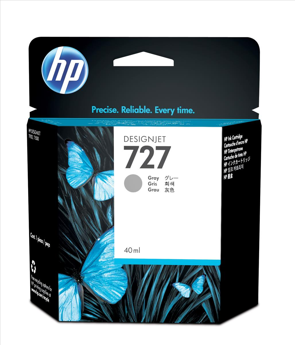 HP 727 40-Ml Gray Ink Cartridge B3P18A