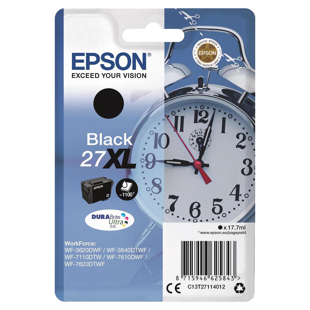 Epson 27XL Blk Ink Cart C13T27114010