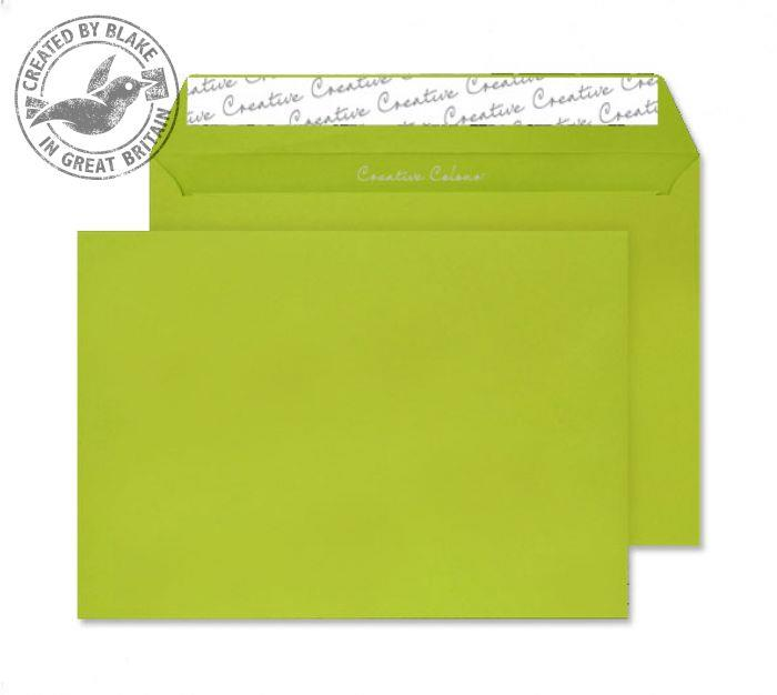 Juice Envelopes Wallet Peel and Seal 120gsm Acid Green C5 Ref 45343 [Pack 25]
