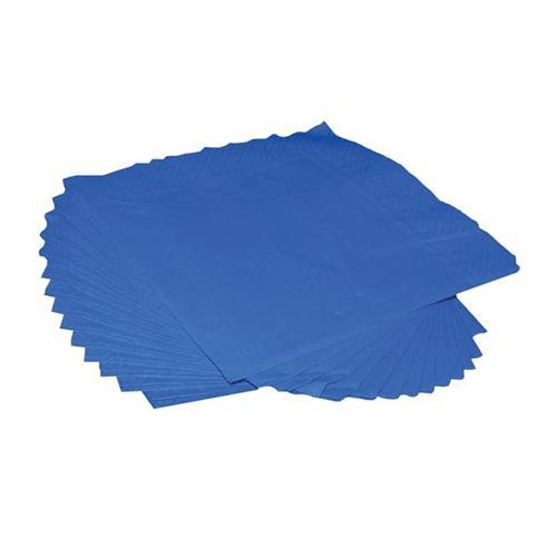 Napkins 2 Ply 400mm Square Royal Blue [Pack 125]