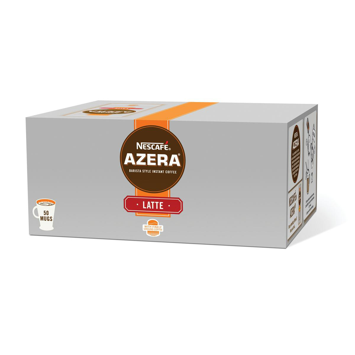 Nescafe Azera Latte Coffee Sachets Ref 12262457 [Pack 50]