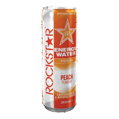 12 x 355ml Rockstar Water Peach 1964200