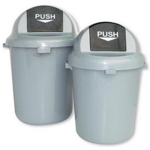**Plastic Push Bin 100L Grey