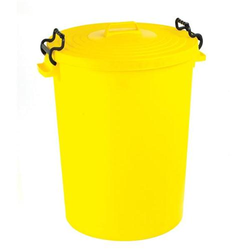 Dustbin with Yellow Lid 110 Litres