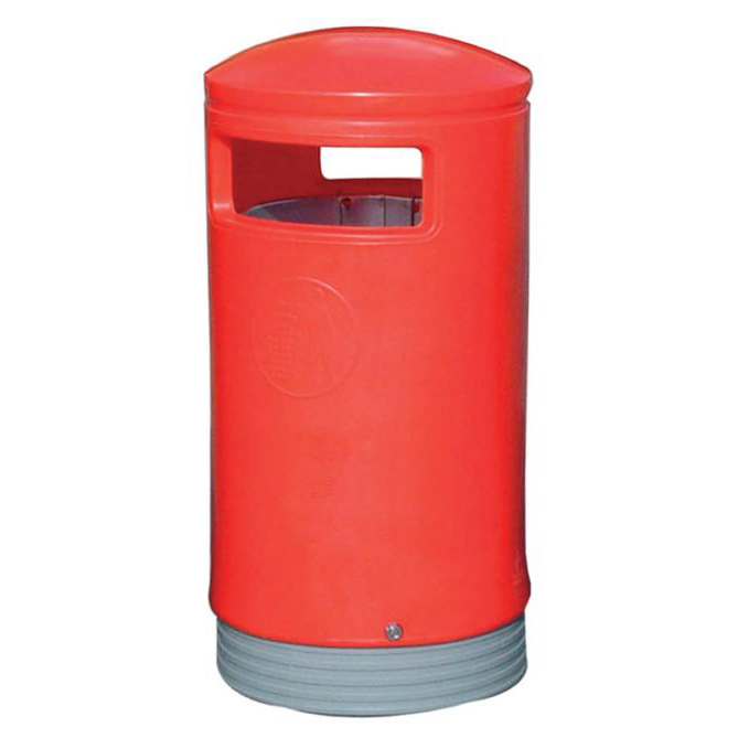 Outdoor Hooded Top Bin 110 Litres Easy Clean Red