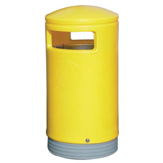Outdoor Hooded Top Bin 110 Litres Easy Clean Yellow