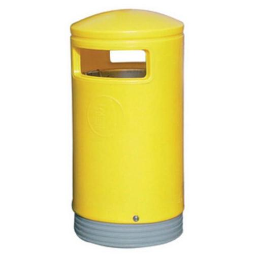 Outdoor Hooded Bin Top Yellow
