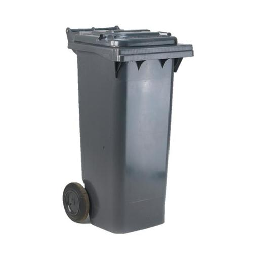 Wheelie Bin High Density Polythene with Rear Wheels 80 Litres Grey