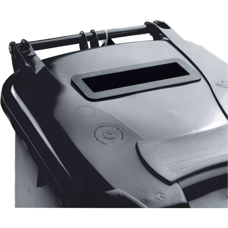 Wheeled Bin UV Stabilised Polyethylene with Rear Wheels Lid Lock 120 Litre Capacity 480x555x930mm Grey
