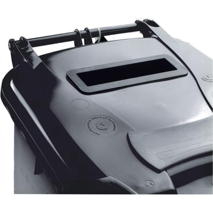 Wheeled Bin UV Stabilised Polyethylene with Rear Wheels Lid Lock 240 Litre Capacity 580x740x1070mm Grey