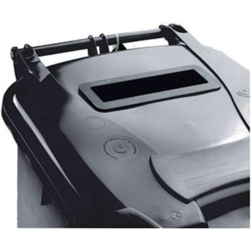 Wheelie Bin Slot and Lid Lock UV Stabilised Polyethylene 240 Litres Grey