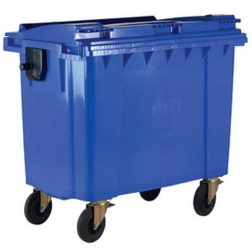 Four Wheeled Bin UV Stabilised Polyethylene 770 Litres 55kg W1350xD770xH1360mm Blue