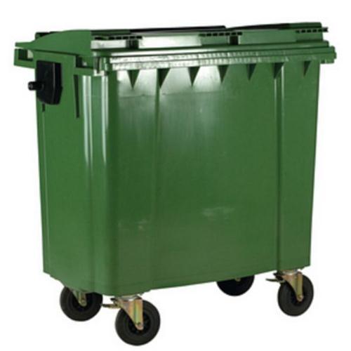 Four Wheeled Bin UV Stabilised Polyethylene 770 Litres 55kg W1350xD770xH1360mm Green