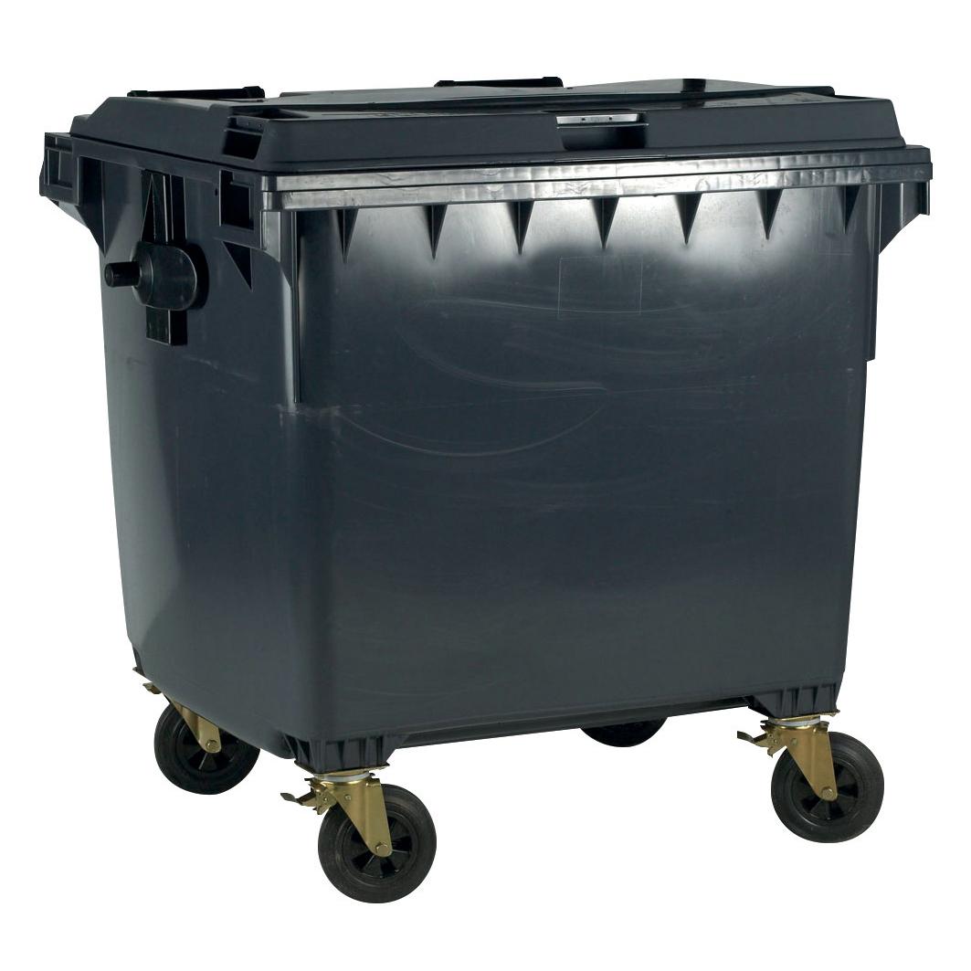 Four Wheeled Bin UV Stabilised Polyethylene 770 Litres 55kg 1350x770x1360mm Grey
