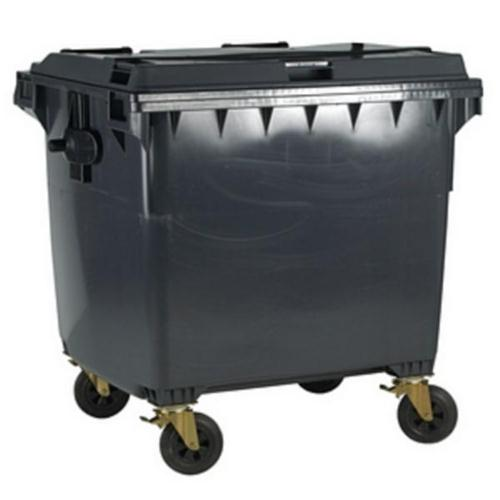 Four Wheeled Bin UV Stabilised Polyethylene 770 Litres 55kg W1350xD770xH1360mm Grey