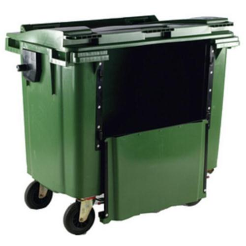**Wheelie Bin 770L Drop Front Green