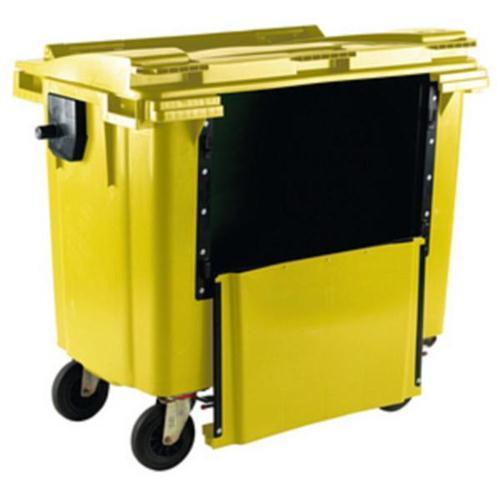 **Wheelie Bin 770L Drop Front Yellow