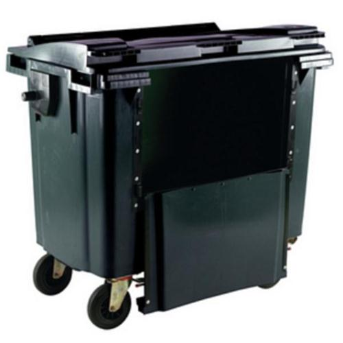 **Wheelie Bin 1100L Drop Front Grey
