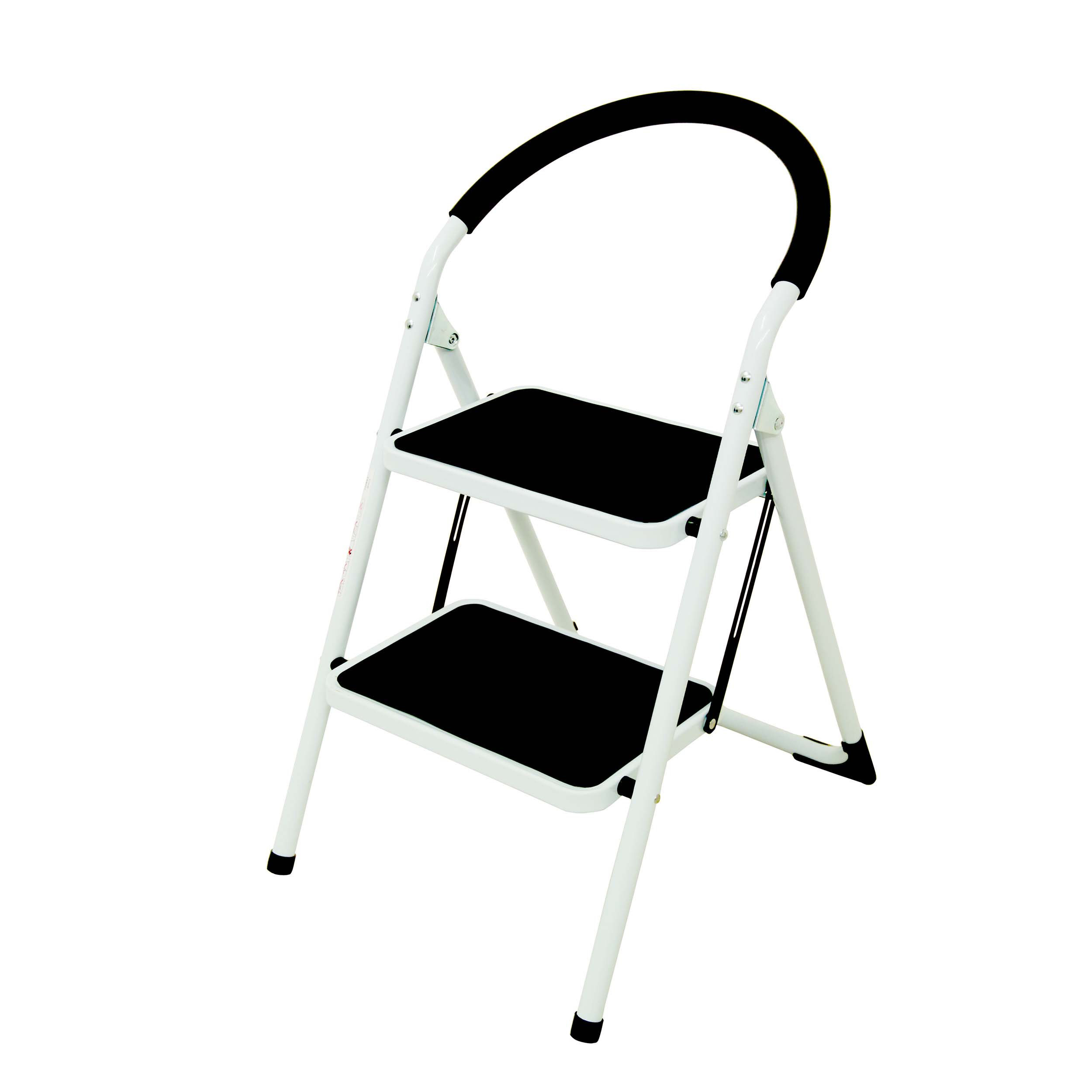 Image for Folding Step Ladder 2 Tread Capacity 150kg White Frame