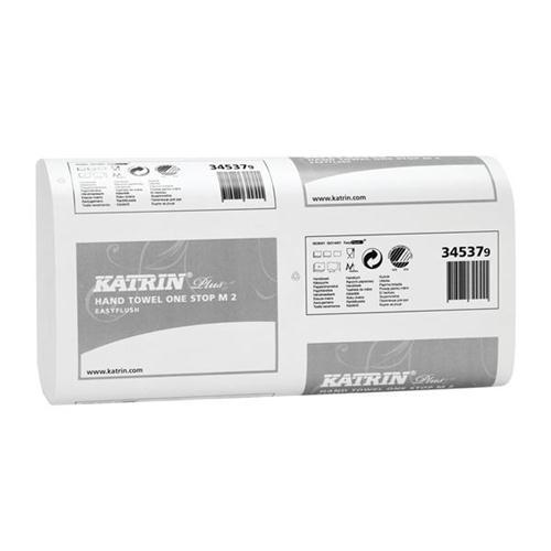 Katrin Plus One Stop Hand Towel Easy Flush 2-Ply White