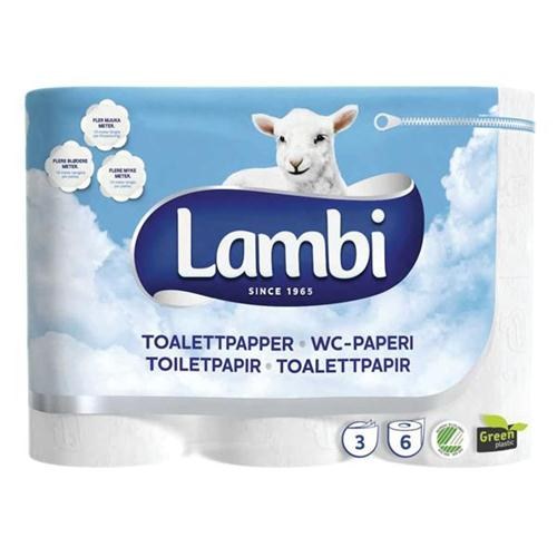 Lambi Luxury 3ply White 24 Toilet Rolls