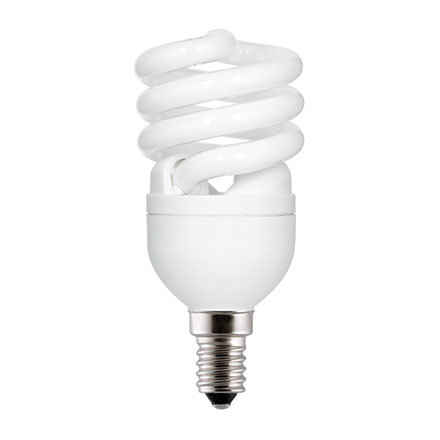 Image for GE 12W T2 Heliax E14 Spiral Cpt Flres Bulb Screw Fit 715lm EEC-A ExtWrmWht Ref85639 Upto 10Day Leadtime (0)