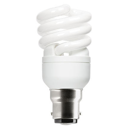 Image for GE 12W T2 Heliax B22d Spiral Cpt Flres Bulb Bayonet 715lm EEC-A ExtWrmWht Ref85641 Up to 10Day Leadtime (0)