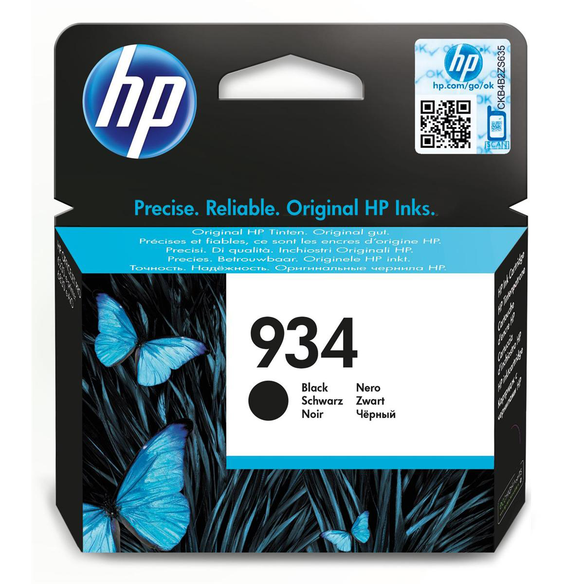 Hewlett Packard [HP] No.934 Inkjet Cartridge Page Life 400pp 10ml Black Ref C2P19AE
