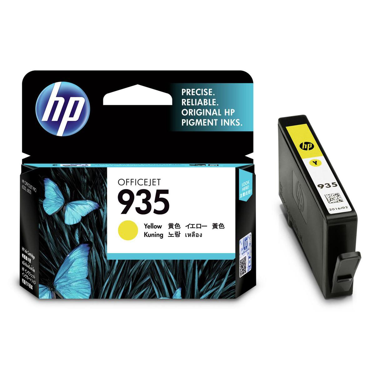 Hewlett Packard [HP] No.935 Inkjet Cartridge Page Life 400pp 4.5ml Yellow Ref C2P22AE