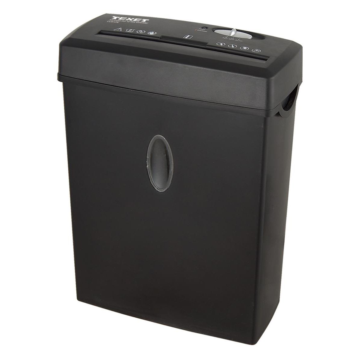 Image for Texet Personal Shredder Cross Cut DIN3 4x30mm P-3 12 Litres Ref CC612N