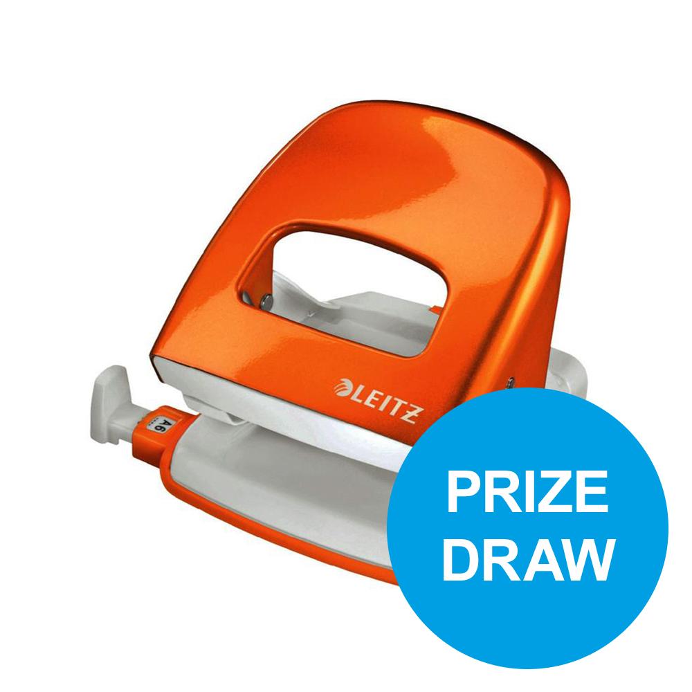 Leitz NeXXt WOW Hole Punch 3mm 30 Sheet Orange Ref 50081044L [REDEMPTION] Oct-Dec19