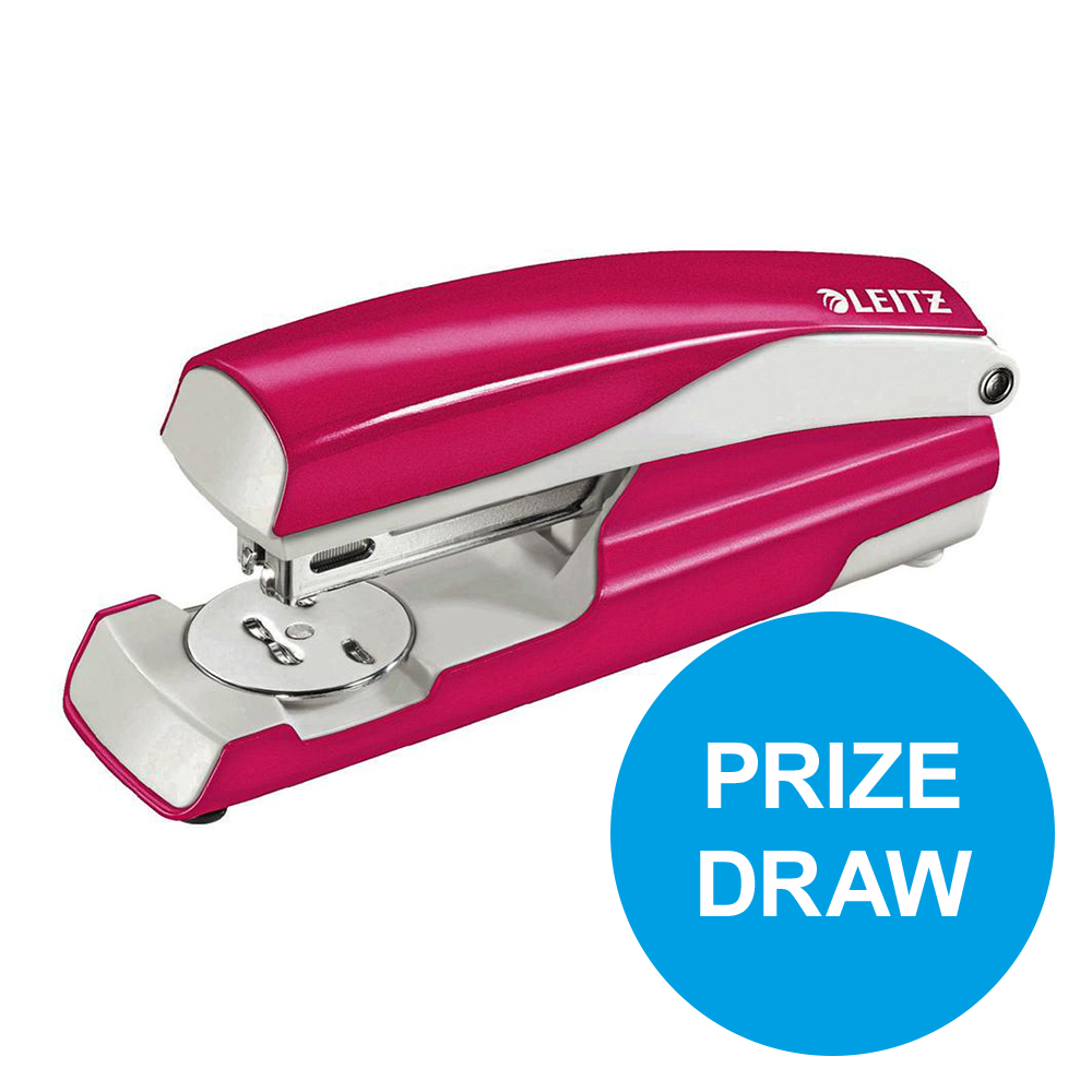 Leitz NeXXt WOW Stapler 3mm 30 Sheet Pink Ref 55021023L [REDEMPTION] Oct-Dec19