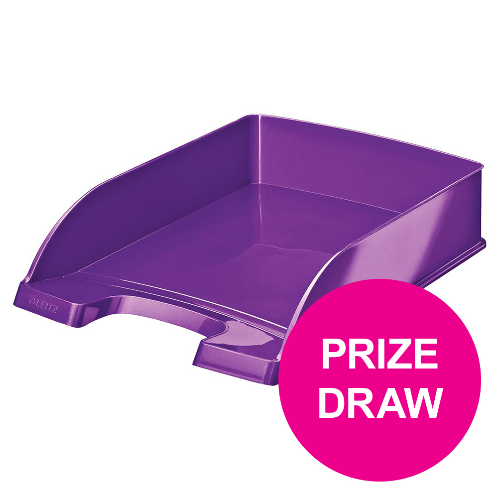 Leitz WOW Letter Tray Purple Ref 52260062 [COMPETITION]