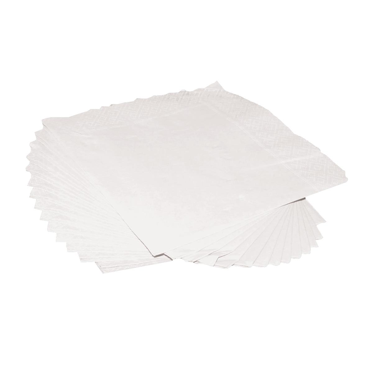 Cocktail Napkins 2-Ply 25cm Square White [Pack 250]