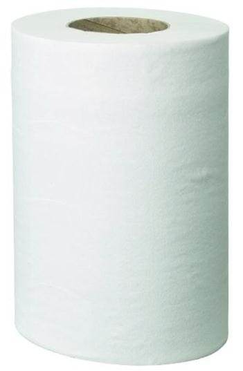 Pristine Centre-feed Roll Hand Towel Mini Single Ply 130m White Pack 12