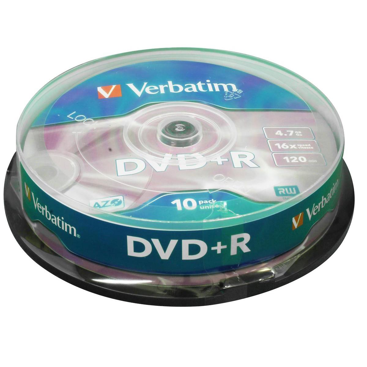 Verbatim DVD+R Spindle Ref 43498 [Pack 10]