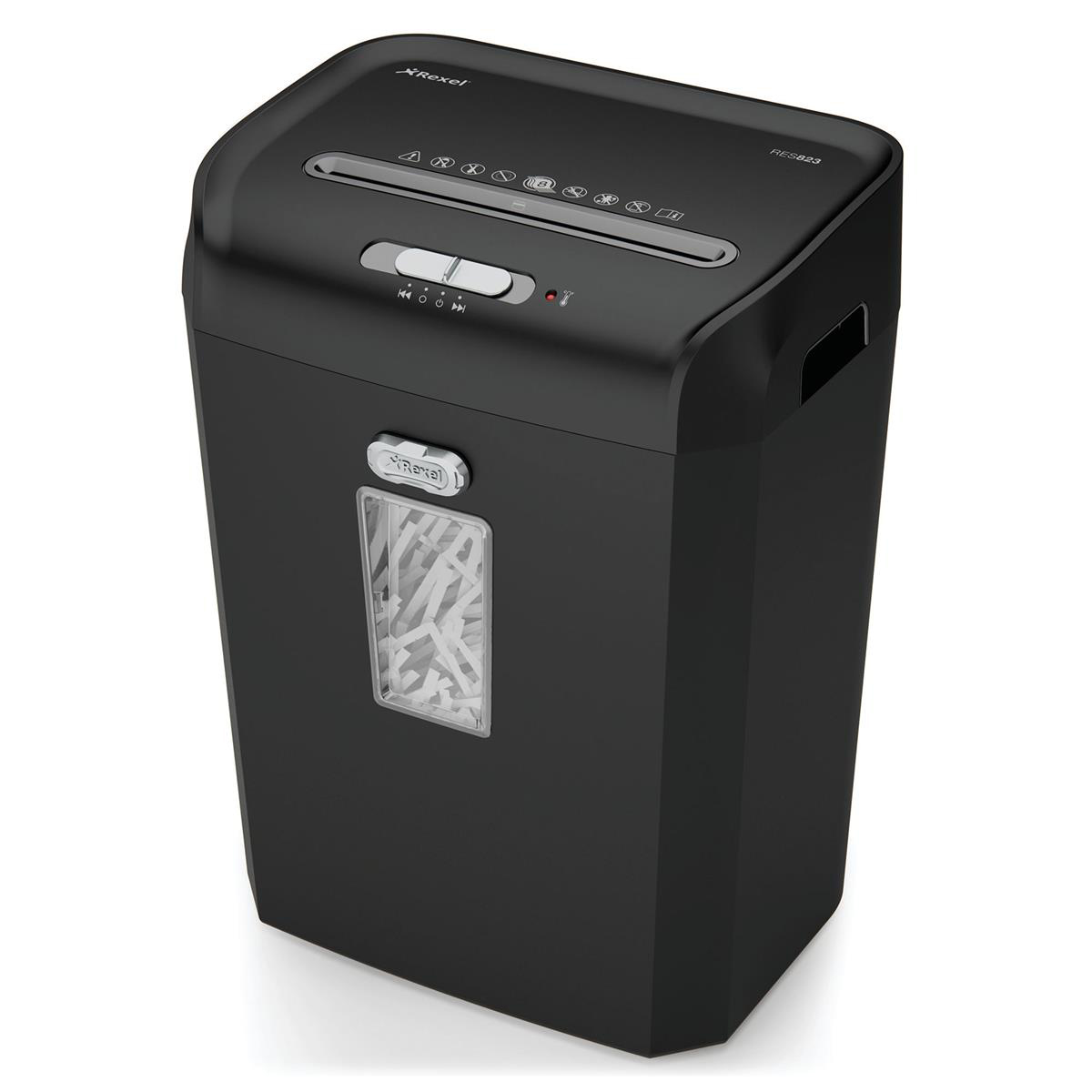 Rexel Promax REX823 Personal Shredder Cross Cut P-4 4x35mm Black/Grey Ref 1758055A