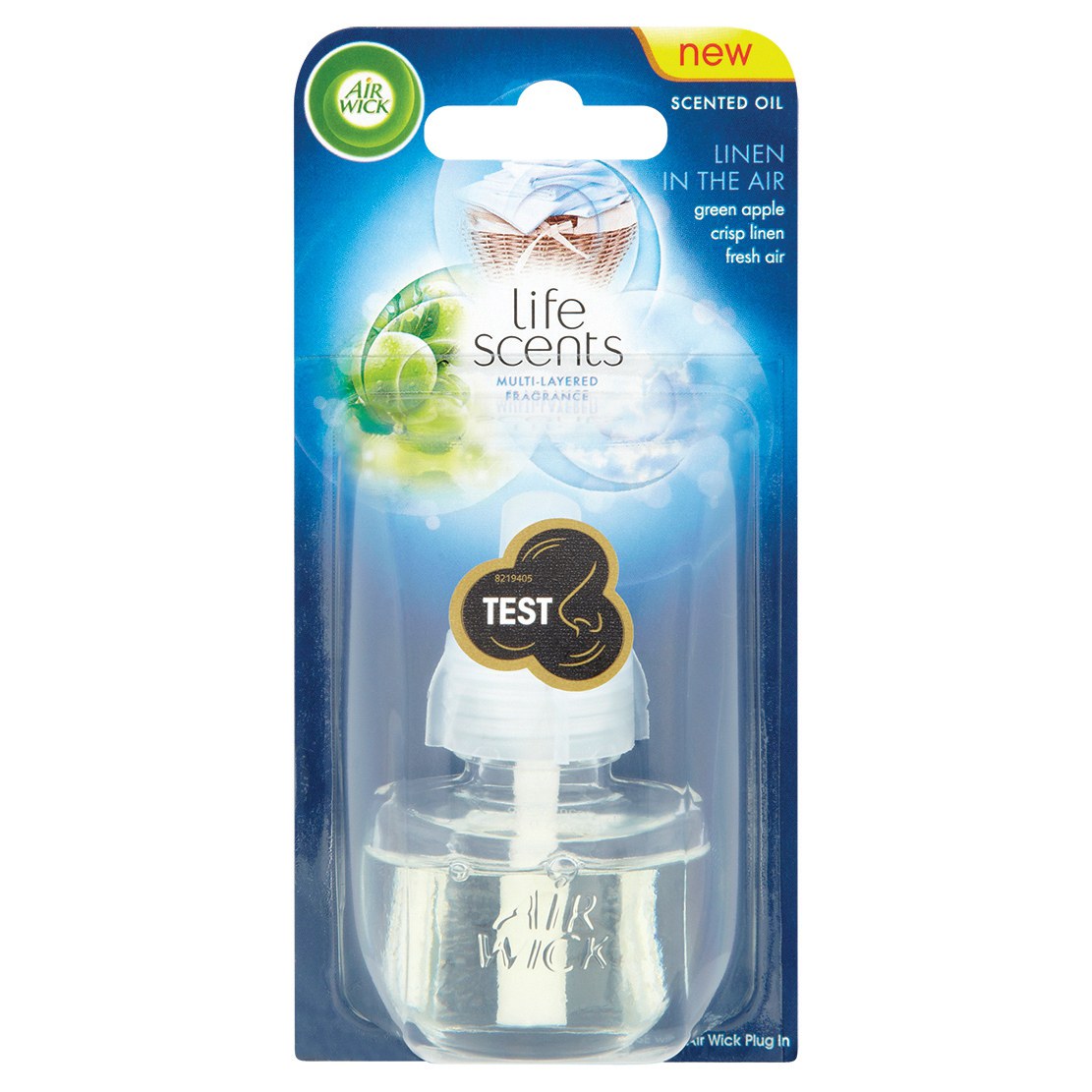 Air Wick Electrical Single Linen Air Room Fragrance Scented Oil Refill Max 80 Days Ref 3019263