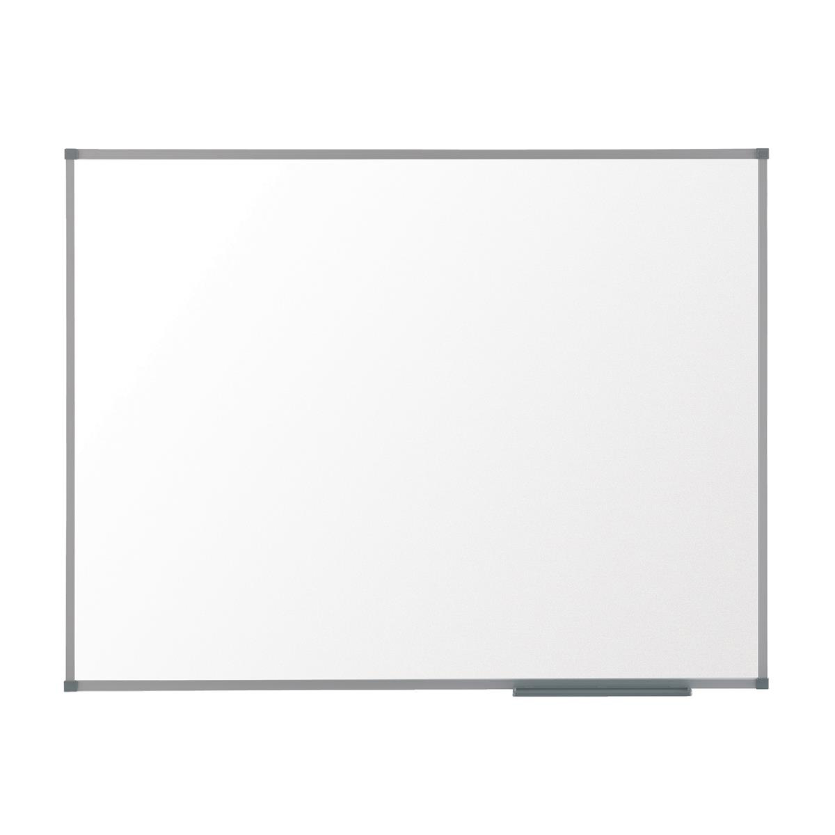 Nobo Basic Steel Whiteboard Magnetic Fixings Included W1200xH900mm White Ref 1905211