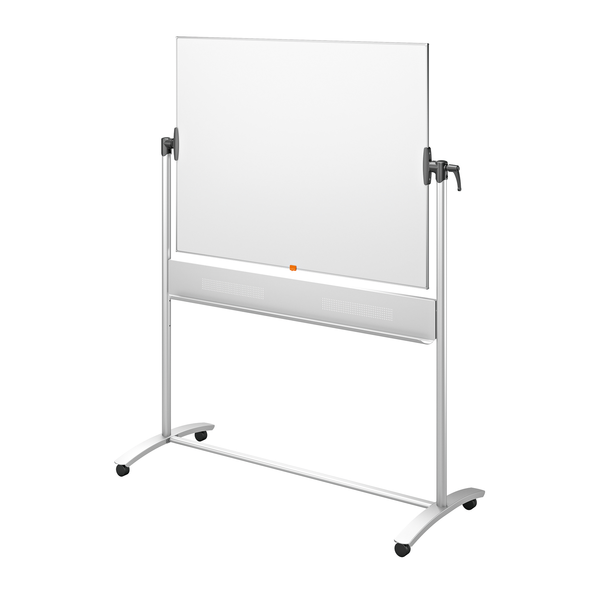 Nobo Prestige Enamel Mobile Board Dual Sided Magnetic W1200xH900mm Steel Grey Ref 1901033