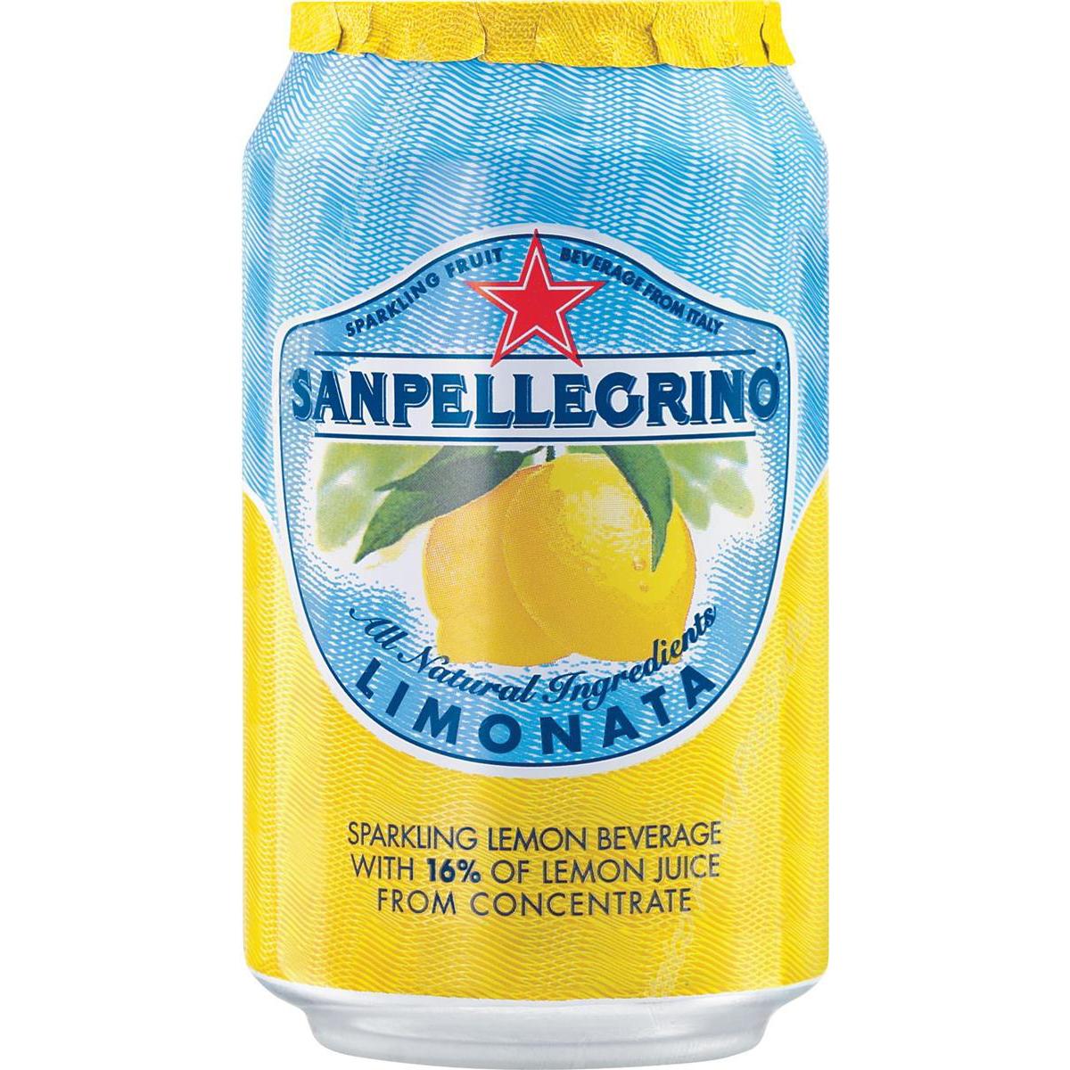 San Pellegrino Sparkling Lemon Citrus Soft Drink 330ml Can Ref 12166912 [Pack 24]