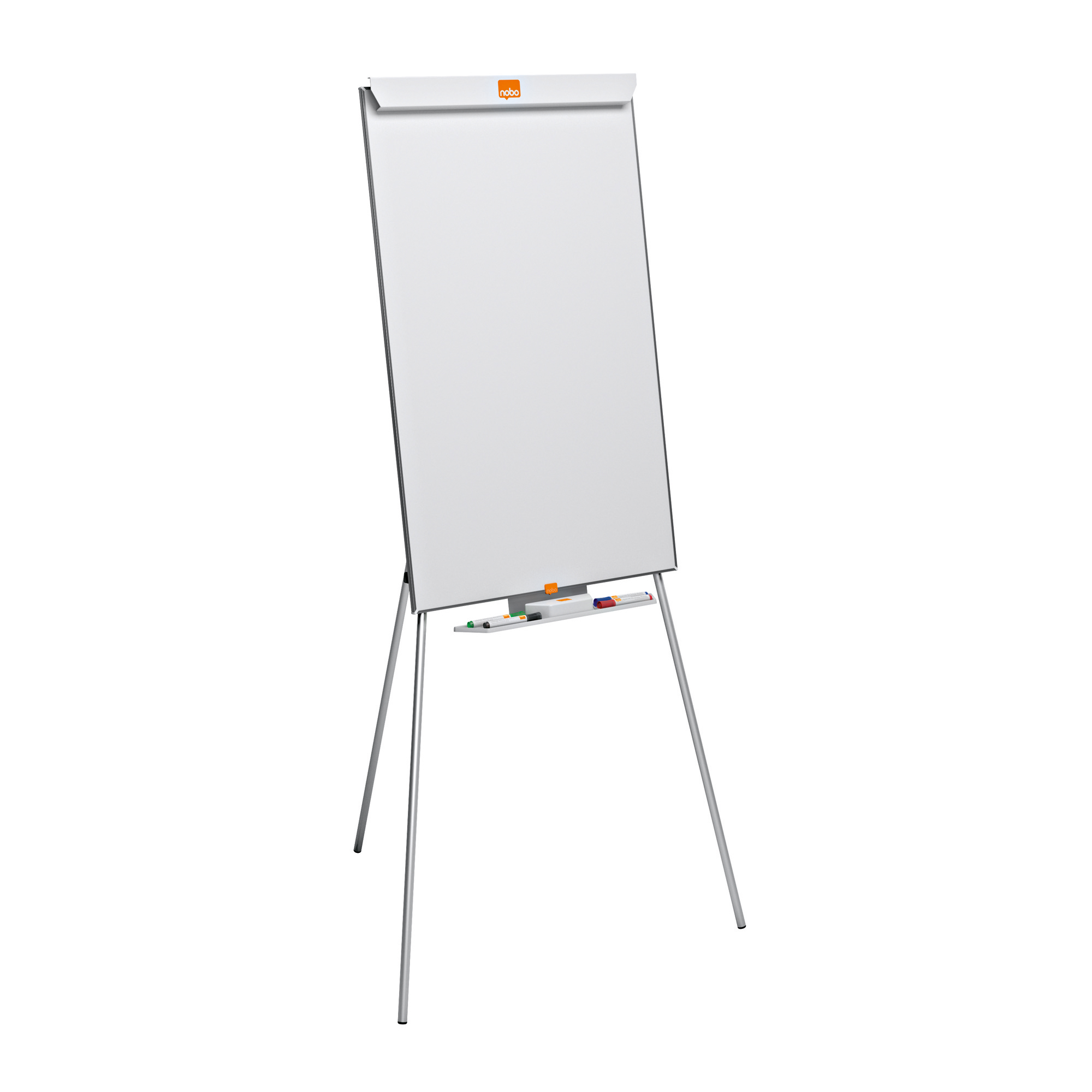 Nobo Basic Tripod Easel Height-adjustable Melamine Surface Non-magnetic W904xH582mm White Ref 1905241