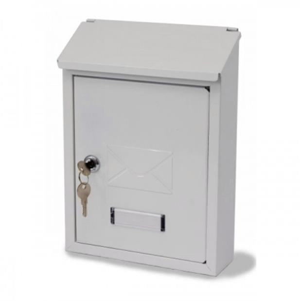 G2 Avon Steel Postbox White
