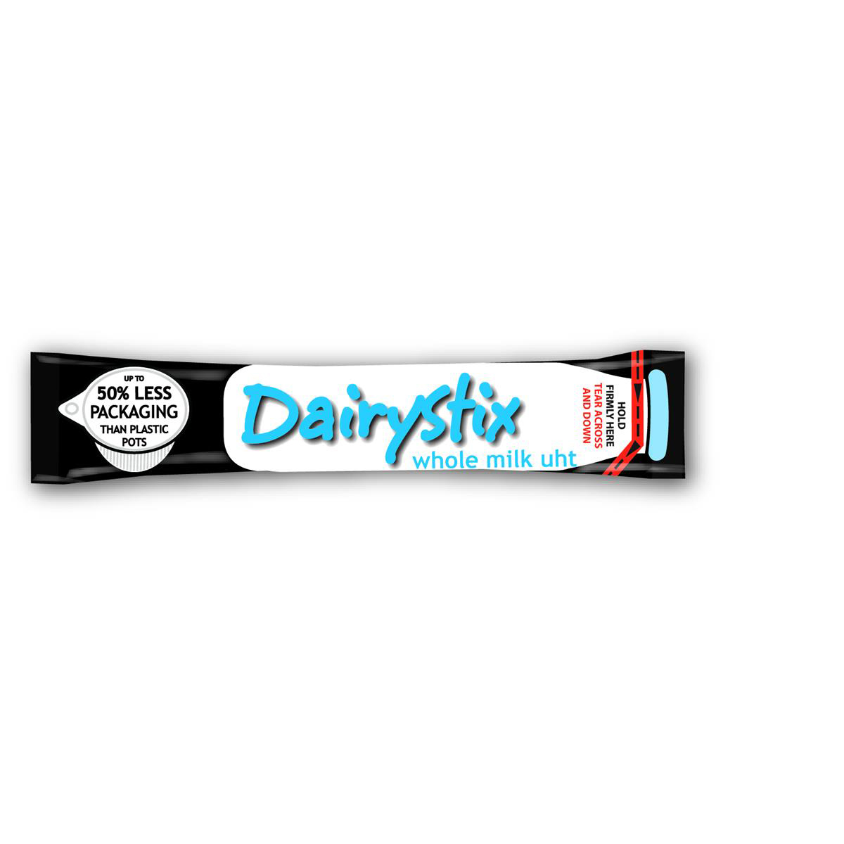 Dairystix UHT Whole Milk Longlife Sticks Easy Tear and Pour 12ml Ref 0499058 [Pack 120]
