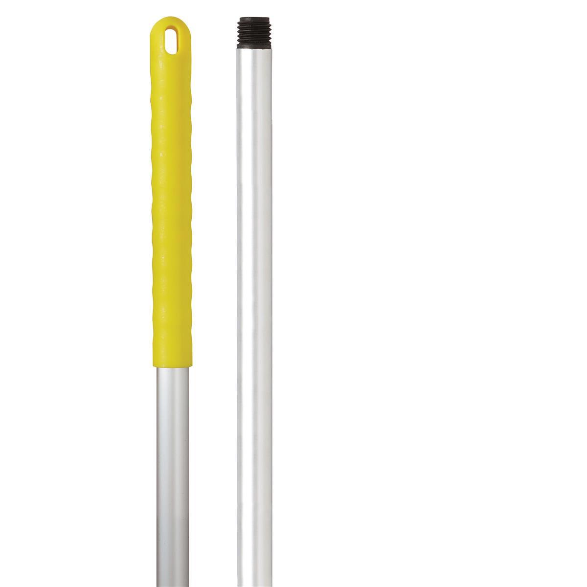 Robert Scott & Sons Abbey Hygiene Mop Handle Aluminium Colour-coded Screw 125cm Yellow Ref 103132YELLOW