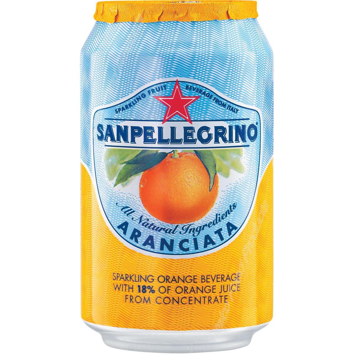 San Pellegrino Sparkling Orange Citrus Soft Drink 330ml Can Ref 12166832 [Pack 24]