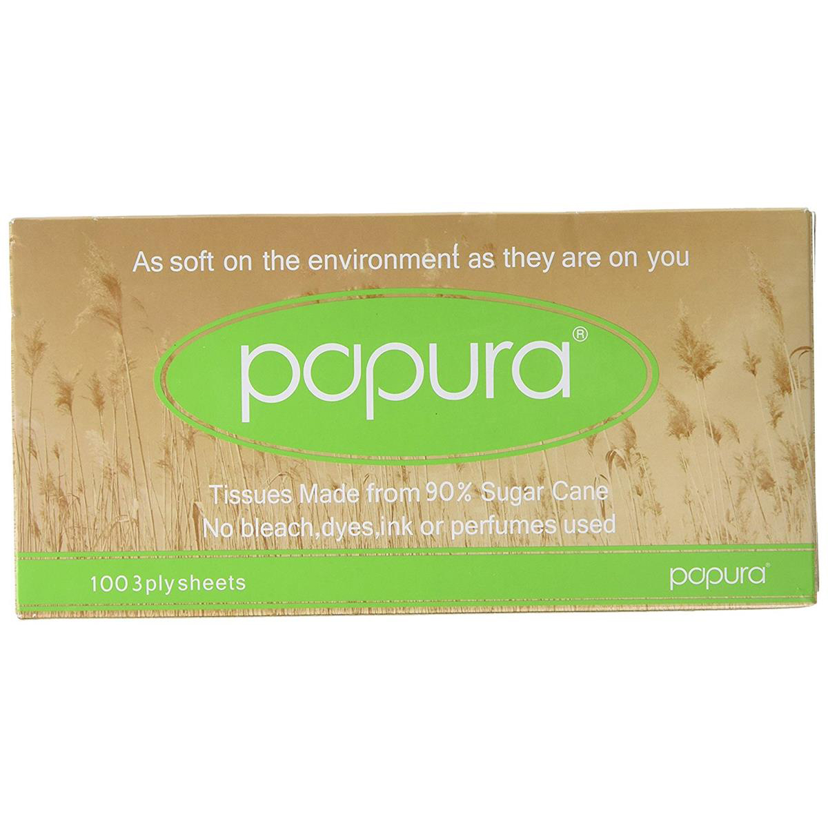 Image for Papura Facial Tissues Box 3 Ply 100 Sheets White Ref 1514