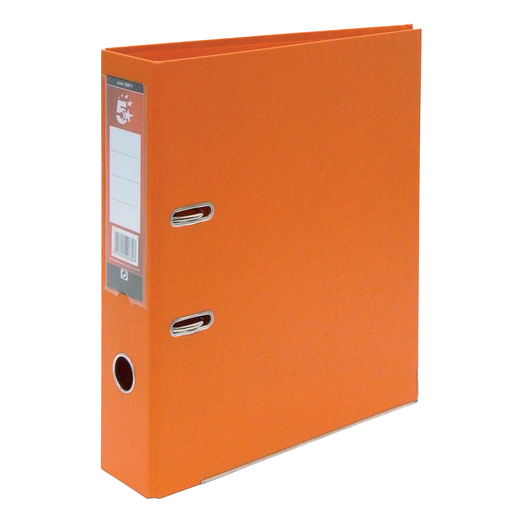 5 Star Plastic L/ File A4 Orange