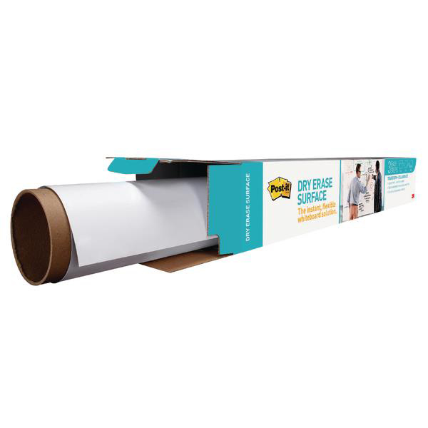 Post-it Super Sticky Dry Erase Film Roll Self-adhesive 1219x1829mm White Ref DEF6x4-EU